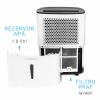 Dezumidificator de aer Turbionaire Smart 10 Eco - 10 l/24h, Garantie 3 ani, Panou de control digital , Indicator nivel apa, Ecologic, Higrostat electronic, Timer, Auto Restart, Filtru lavabil, Silentios