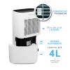 Dezumidificator Turbionaire SENSO 20, 20 l/24h, Silentios 45 dB, Garantie 3 ani, Rezervor 4l, 180 m³/h, Control digital, Indicator luminos umiditate, Timer, Display LED