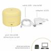Difuzor de Aroma Turbionaire Puck Lemon, 7 Lumini LED interschimbabile, 5 W, Silentios, Portabil, Posibilitate alimentare USB, Oprire automata