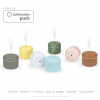 Difuzor de Aroma Turbionaire Puck Aqua, 7 Lumini LED interschimbabile, 5 W, Silentios, Portabil, Posibilitate alimentare USB, Oprire automata