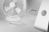 Ventilator de birou STADLER FORM TIM, Alb, 10 W, Silentios, Inclinare reglabila, Rotativ, Alimentare cablu USB