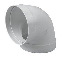 Cot circular la 90 din PVC D=125 mm