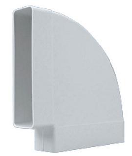Cot rectangular la 90 din PVC Falmec montaj orizontal 70x150 mm