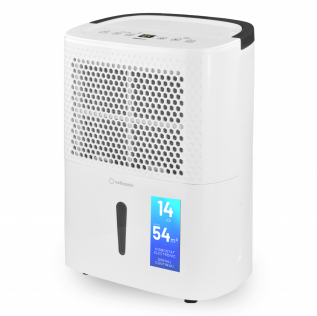 Dezumidificator Turbionaire Smart 14 Eco, 14 l/24h, 120m³/h, Garantie 3 ani, Panou de control digital, Ecologic, Higrostat electronic, Timer, Auto Restart, Filtru lavabil, Silentios