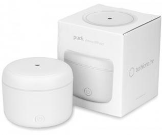 Difuzor de Aroma Turbionaire Puck Snow, 7 Lumini LED interschimbabile, 5 W, Silentios, Portabil, Posibilitate alimentare USB, Oprire automata