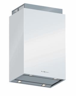 Hota de perete FALMEC LAGUNA L=60 cm, 800 mc/h, Aspiratie perimetrala, Iluminare LED,  Touch control, Sticla de culoare alba, Garantie 5 ani, Fabricatie Italia