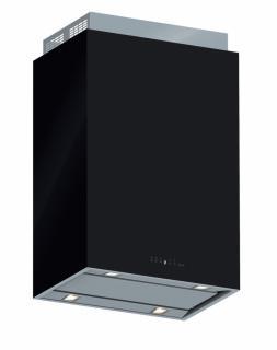 Hota de perete FALMEC LAGUNA L=60 cm, 800 mc/h, Aspiratie perimetrala, Iluminare LED, Touch control, Sticla de culoare neagra, Garantie 5 ani, Fabricatie Italia