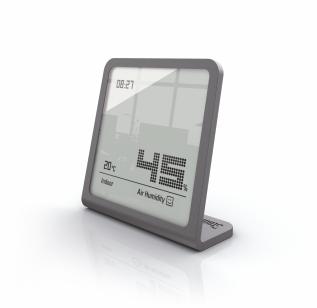 Termo - higrostat cu ceas, Stadler Form Selina titanium