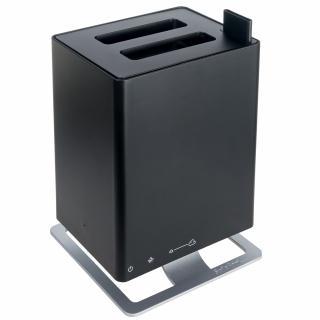 Umidificator si Difuzor de arome cu Ultrasunete Stadler Form Anton Negru, Rezervor 2.5 litri, 170 g/h, Modul antibacterian, Oprire automata