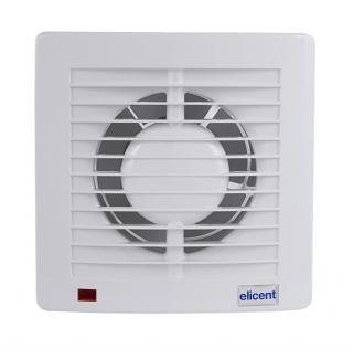 Ventilator casnic ELICENT E-style 100T, Clapeta antiretur, Timer, Fabricatie Italia, Debit 90 mc/h