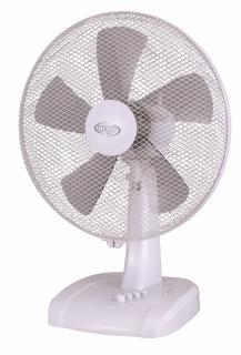 Ventilator de birou Argo Ginger White, Debit 3033 mc/h, Oscilatie, Timer, 3 trepte de viteza, 50 W