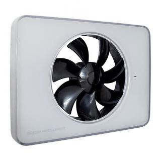 Ventilator FRESH Intellivent 2.0 alb cu elice neagra, Garantie 5 ani, Timer reglabil, Auto-control al umiditatii, Consum 5 W, 134mc/h, Maxim 21 dB(A), Fabricatie Suedia