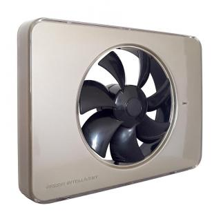 Ventilator FRESH Intellivent 2.0 champagne cu elice neagra, Garantie 5 ani, Timer reglabil, Auto-control al umiditatii, Consum 5 W, 134 mc/h, Maxim 21 dB(A), Fabricatie Suedia