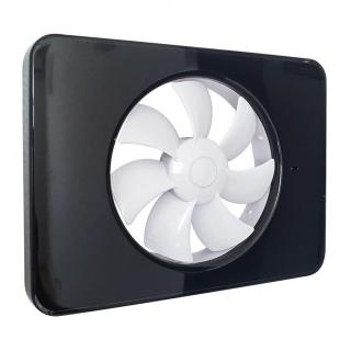 Ventilator FRESH Intellivent 2.0 negru cu elice alba,  Fabricatie Suedia