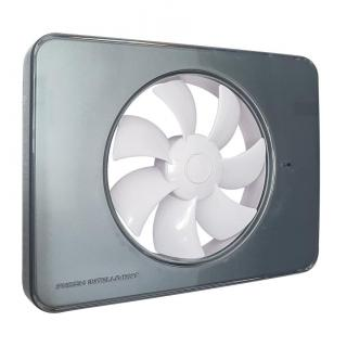 Ventilator FRESH Intellivent 2.0 titan cu elice alba, Garantie 5 ani, Timer reglabil, Auto-control al umiditatii, Consum 5 W, 134mc/h, Maxim 21 dB(A), Fabricatie Suedia