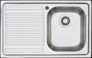 Chiuveta BARAZZA B_FAST 1LFS81S 79x50 cm cu 1 cuva si picurator pe partea stanga