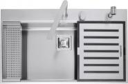 Chiuveta BARAZZA B_Free 1LBF91K 86x51 cm cu 1 cuva, accesorii si kit robinet