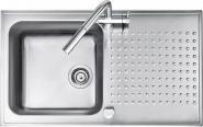 Chiuveta BARAZZA Select 1ISB9060 86x50 cm cu 1 cuva si picurator, Fabricatie Italia