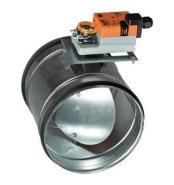 Clapeta de reglaj circulara (damper) D=100mm, actionata cu servomotor