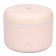 Difuzor de Aroma cu Ultrasunete Turbionaire Puck Blush, 7 Lumini LED interschimbabile, 5 W, Silentios, Portabil, Posibilitate alimentare USB, Oprire automata