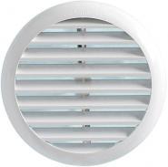 Grila circulara de exterior din ABS cu cleme de prindere pentru racorduri cu diametrul D=80-125mm