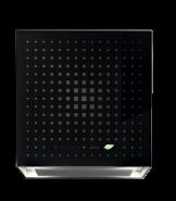 Hota de perete cu functie de purificare aer, FALMEC RUBIK, Tehnologie E.ion System, Culoare neagra, Garantie 5 ani