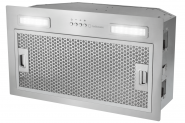 Hota incorporabila Turbionaire Selena 50, 610 mc/h, Iluminare LED 3200K, 3 viteze, Control electronic, Filtru grasimi din Inox si Aluminiu in 5 straturi