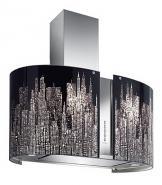 Hota insula FALMEC MANHATTAN LED L=65 cm, Garantie 5 ani, Aspiratie perimetrala, Fabricatie Italia