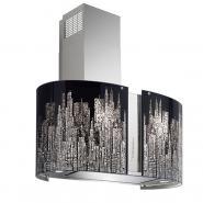 Hota insula FALMEC MANHATTAN LED L=85 cm, 800 mc/h, Aspiratie perimetrala, Garantie 5 ani, Fabricatie Italia