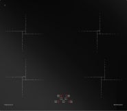 Plita cu inductie 4 zone de gatit BARAZZA 1PIDG64N Touch Control sticla neagra 60 cm