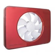 Ventilator FRESH Intellivent 2.0 rosu cu elice alba, Garantie 5 ani, Timer reglabil, Auto-control al umiditatii, Consum 5 W, 134mc/h, Maxim 21 dB(A), Fabricatie Suedia