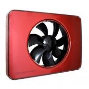 Ventilator FRESH Intellivent 2.0 rosu cu elice neagra, Garantie 5 ani, Timer reglabil, Auto-control al umiditatii, Consum 5 W, 134 mc/h, Maxim 21 dB(A), Fabricatie Suedia
