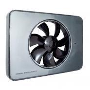 Ventilator FRESH Intellivent 2.0 titan cu elice neagra, Garantie 5 ani, Timer reglabil, Auto-control al umiditatii, Functionare silentioasa Consum 5 W, 134 mc/h, Maxim 21 dB(A), Fabricatie Suedia
